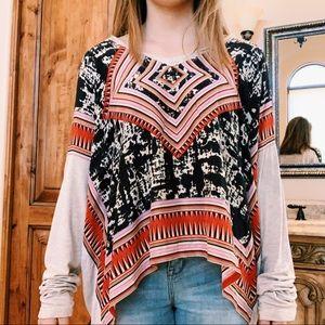 ✰ CAbi Long Sleeve Aztec Pattern Top ✰